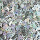 6mm Flat Round Loose SEQUIN PAILLETTE ~ Metallic ICE SILVER STREAK ~ Made in USA