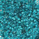 Cup Sequin 6mm Loose Teal Peacock Laser Hologram Reflective Rainbow Made in USA