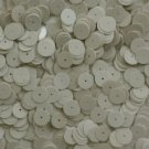 10mm Flat SEQUIN Loose PAILLETTES ~ Opaque IVORY BONE ~ Round Disc ~ Made in USA