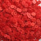 6mm Flat SEQUIN PAILLETTES ~ RED Opaque Bright Shiny ~ Round Disc ~ Made in USA