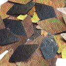 Sequin Bronze Gold Iris Diamond 1.75inch Tooled Leather Effect Couture Paillette