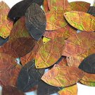 "Bronze Gold Iris Brown Navette Leaf Sequin 1.5"" Tooled Leather Effect Paillettes"