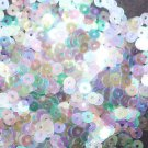 4mm Flat SEQUIN PAILLETTES ~ CRYSTAL IRIS RAINBOW cool hue ~ Made in USA