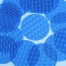 3D Blue Large Sequin Round 2 inch Dimensional Reflector Paillettes Made in USA.
