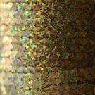 SEQUIN STRING TRIM ~  GOLD LASER HOLOGRAM~ 6mm FLAT strung by yard  Made in USA