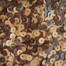 6mm Flat Round Loose SEQUINS PAILLETTE ~ WOOD GRAIN * WALNUT * ~  Made in USA