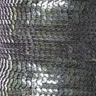 Sequin Stitched Trim 4mm ~ Deep Forest Green Transparent See-Thru ~ Made in USA