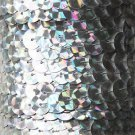 Silver Prism Multi Reflective Metallic Sequin Trim 10mm flat strung Made in USA.