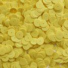 10mm Flat SEQUIN Loose PAILLETTES ~ Opaque SUN YELLOW ~ Round Disc ~ Made in USA