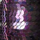 Violet Purple Iris Rainbow Metallic Sequin Trim 10mm flat strung. Made in USA.