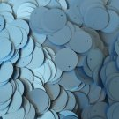 20mm Flat Round Sequin Paillettes Light Blue Matte Silk Frost. Made in USA