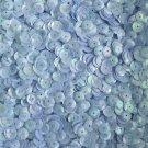 8mm Cup Sequins Powder Blue Rainbow Iris Shiny Opaque