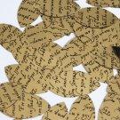 """Sequin Navette Leaf 1.5"""" Black Gold Midsummer Night's Dream Shakespeare Script"""