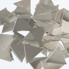 Sequin Triangle 30mm Silver Metallic Couture Paillettes. Made in USA.