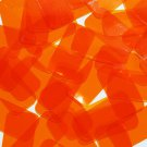 "Rectangle Vinyl Shape 1.5"" Orange Go Go Transparent"