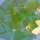 """Yellow Lime Crystal Iridescent Iris Fishscale Fin 1.5"""" Couture Sequin Paillettes"""
