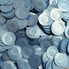 20mm Cup Round Sequins Light Blue Matte Silk Frost. Made in USA