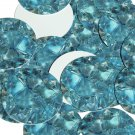 "Round Sequin 1.5"" Topaz Blue Gem Facetted Sparkle Opaque"