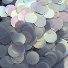 20mm Flat Round Sequin Paillettes Gray Silver Semi Frost Rainbow. Made in USA