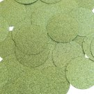 Round Sequin 40mm Lime Green Metallic Sparkle Glitter Texture Couture Paillettes