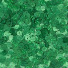 6mm Flat SEQUIN PAILLETTE ~ GREEN Laser HOLOGRAM Multi Metallic Reflective