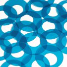 "Circle Loop Vinyl Shape 1.5"" Blue Go Go Transparent"