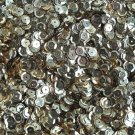 6mm Cup Round Sequins Light Champagne Gold Shiny Metallic. Made in USA