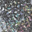 "Silver Star Dust Reflective Sequins Oval 1.5"" Large Couture Paillettes"
