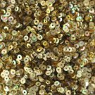 3mm Flat SEQUIN PAILLETTES Loose ~  GOLD PRISM MULTI Reflective METALLIC ~ USA