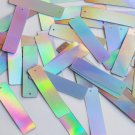 Silver Lazersheen Sequin Skinny Rectangle 1.5 inch Couture Loose Paillettes