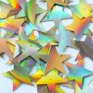 "Sequin Star 5 Point 1.5"" Gold Lazersheen Reflective Metallic. Made in USA"