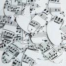 "Oval Sequin 1.5"" Mozart Score Black White Opaque"