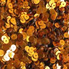 5mm Flat Round Sequins Orange Shiny Metallic. Made in USA