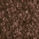 5mm Cup Round Sequins Bronze Brown Matte Silk Frost. Made in USA