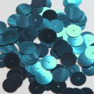 Round Sequin 15mm Sapphire Blue Metallic Couture Paillettes