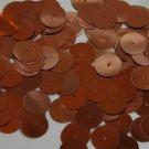 Round Sequin 15mm Chestnut Brown Metallic Couture Paillettes