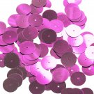 Round Sequin 15mm Bright Pink Metallic Couture Paillettes