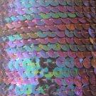 Sequin Trim 6mm Amethyst Purple Crystal Rainbow Iris 5 yards / 15' per pack