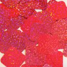 "Square Diamond Sequin 1.5"" Hot Pink Fluorescent Hologram Glitter Sparkle"