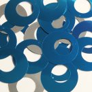 "Circle Loop Ring Sequin 1.5"" Blue Silver Metallic Couture Paillettes"