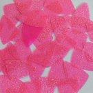 "Fishscale Fin Sequin 1.5"" Candy Pink Neon Fluorescent Sparkle Glitter Paillettes"