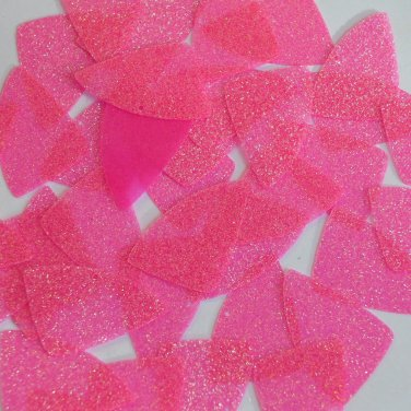 "Fishscale Fin Sequin 1.5"" Candy Pink Neon Fluorescent Sparkle Glitter Paillettes"
