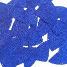 """Fishscale Fin Sequin 1.5"""" Royal Blue Metallic Sparkle Glitter Texture Paillettes"""