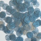 Round Sequin 15mm Sky Blue Silky Fiber Strand Fabric Couture Paillettes