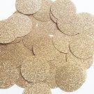 Round Sequin 40mm Light Gold Metallic Sparkle Glitter Texture Couture Paillettes