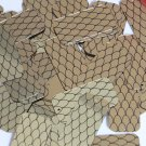 "Rectangle Sequin 1.5"" Black Gold Fish Scale Effect Print Metallic Paillettes"