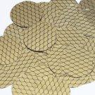 "Round Sequin 1.5"" Black Gold Fish Scale Effect Print Metallic Couture Paillettes"