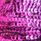 Sequin Trim 5mm cup Purple Fuchsia Shiny Metallic. 5 yards / 15' per pack