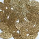 """Navette Leaf Sequin 1.5"""" Light Gold Metallic Sparkle Glitter Texture Paillettes"""