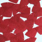 "Fishscale Fin Sequin 1.5"" Red Metallic Sparkle Glitter Texture Couture Paillette"